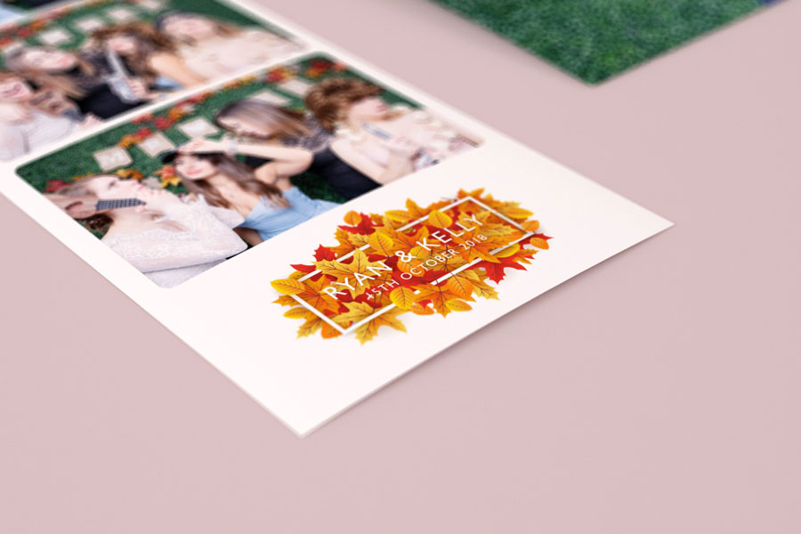 Photo booth print design autumn