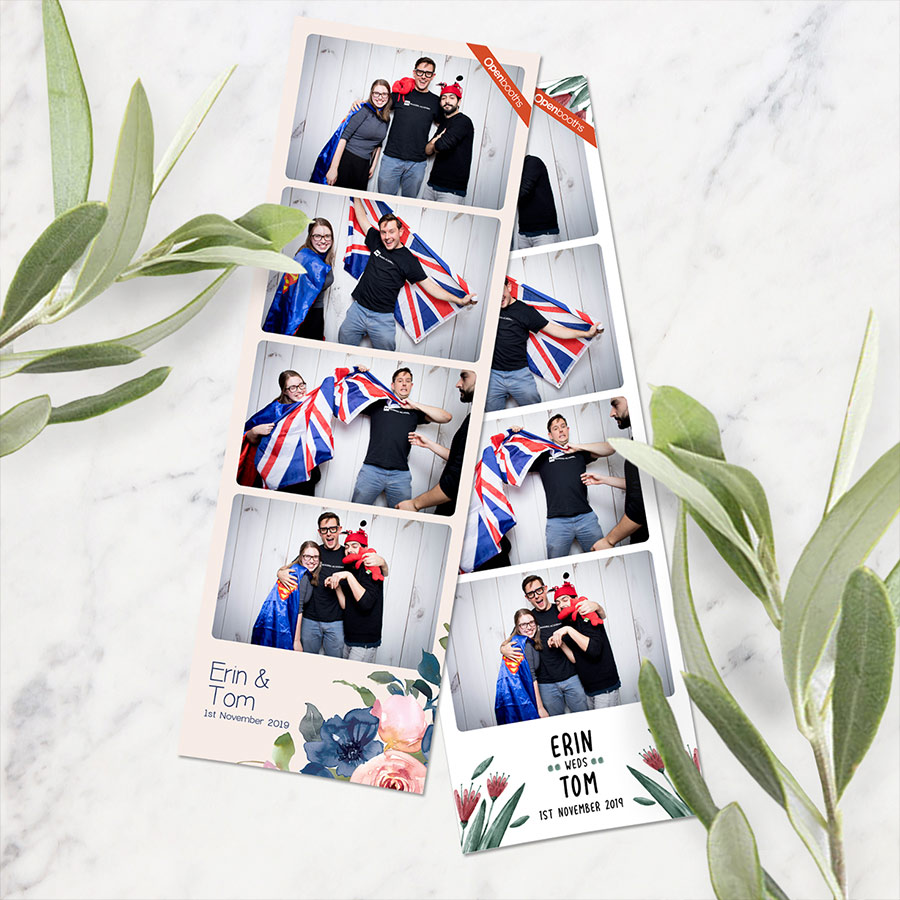 photo booth wedding print template