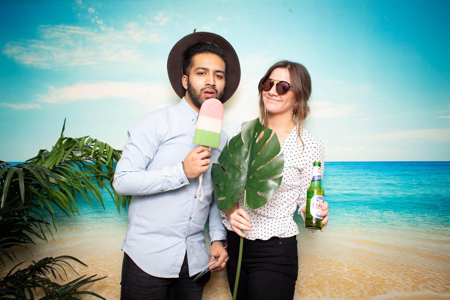 Tropical theme photo booth