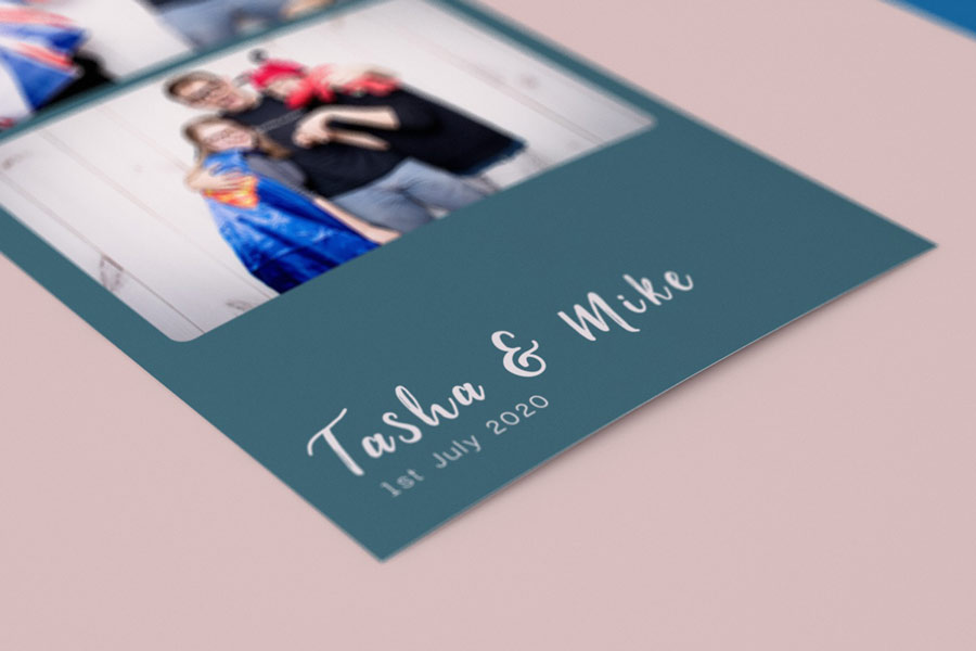 wedding photo booth print template